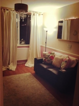 Living room in a flat on Wyverne Road, Cathays