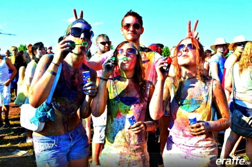 Big throw at The Color Festival