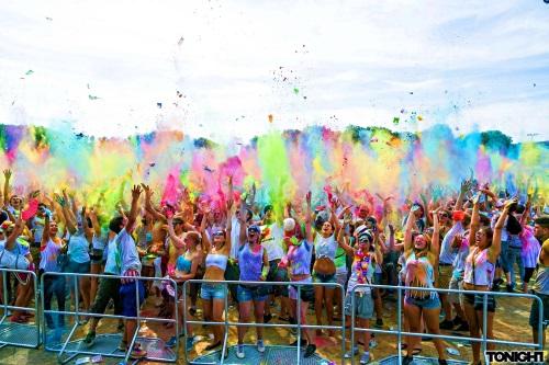 The Color Festival crowd
